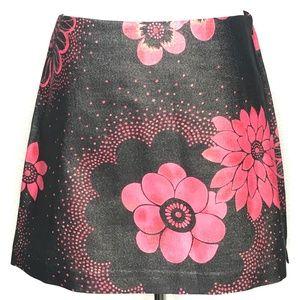 Express Stretch Black Pink Floral Skirt A110299